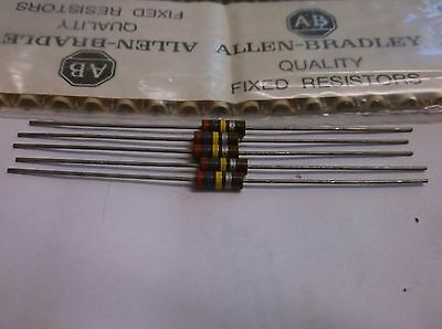 5 Allen Bradley Carbon Comp Resistors 270k 1/2W 10%  EB2741  RC20GF274K
