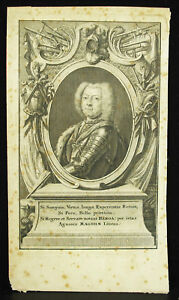 Original-Engraving-a-King-Period-Xviie-in-Determine-Print-Antique-King