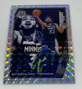 KARL-ANTHONY-TOWNS-2019-20-Panini-MOSAIC-11-SWAGGER-SILVER-WAVE-MOSAIC-PRIZM-SP