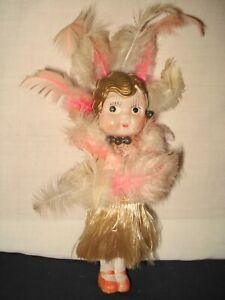 VTG-1920-039-S-30-039-s-FLAPPER-HAWAIIAN-KEWPIE-CELLULOID-DOLL-PLAY-BABY-5-1-4-034-H-JAPAN