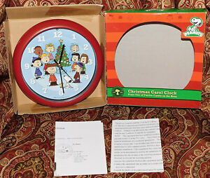 Peanuts Gang Singing Christmas Tree Carol Clock Plays Carols on the Hour New 789683012332 | eBay