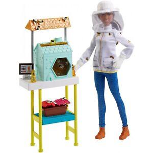 Barbie Careers Beekeeper Doll and Beehive Playset, Brunette Hair