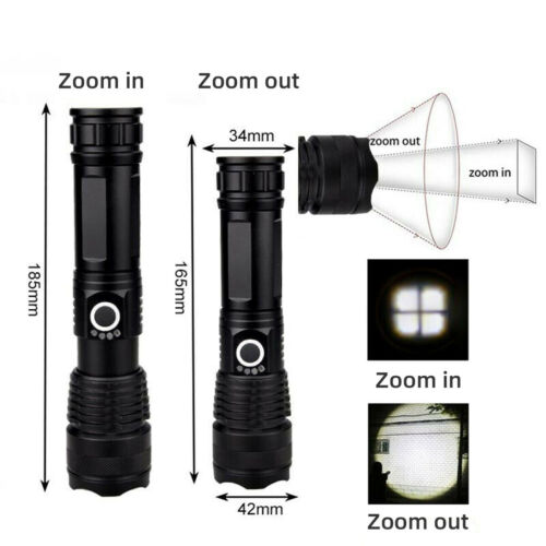 Rechargeable XHP110 XHP90.2 LED Chip Flashlight Spotlight Powerful Hiking Torch