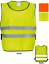 Débardeur Sport Course Réfléchissant Sécurité Visibilité Tabard hi jaune orangé S M L XL