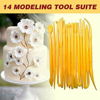 Useful 14Pcs Cutter Fondant Cake Decorating Sugarcraft Mold Paste Cookie Tool