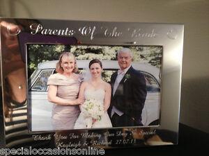 Personalised Engraved Landscape 6 X 4 Photo Frame Parents Of Bride