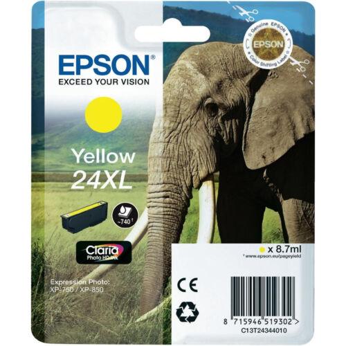 Echt Epson Elefant Hohe Kapazität Gelbe Tintenpatrone //24xl //C13t24344010