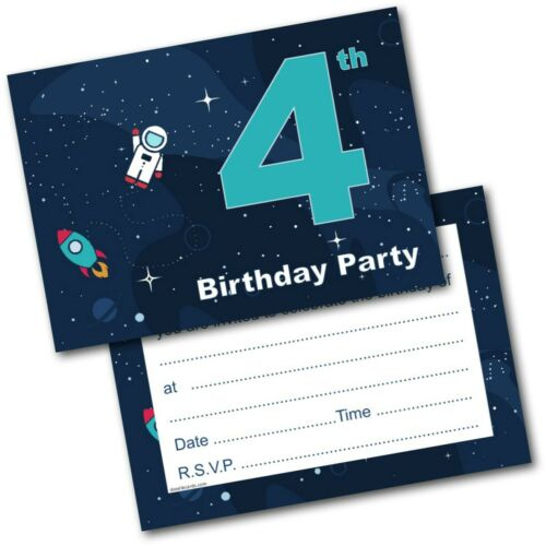 1st 2nd 3rd 4th 5th Birthday Kids Childrens Party Invitations Invites Pack of 20