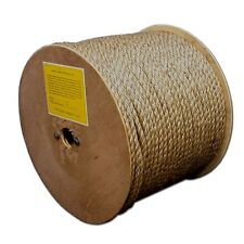 """T.W . Evans Cordage 25-001 1/4"""" by 600-Feet Pure Number-1 Manila Rope Reel New"""