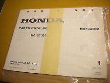 Honda April 1982 EG1400Z Parts Catalog 27 Pages HC127328