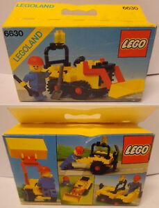 Vintage-Game-Gioco-LEGO-Citta-Town-Set-6630-New-Nuovo-1981-Ruspa-Bucket-Loader