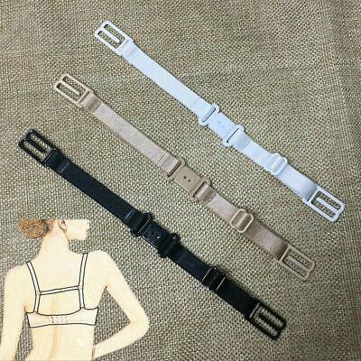 3pcs Women Elastic Adjustable Non-slip Band Bra Back Strap Holder Clip Buckle