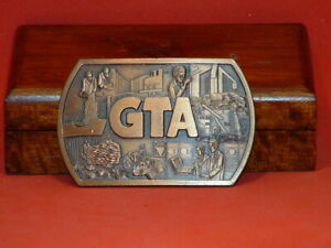 Pre-Owned-GTA-Automation-Brass-Color-Belt-Buckle