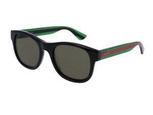 Occhiali-da-Sole-GUCCI-GG0003S-originali-nero-verde-002