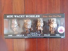 "FUNKO MINI WACKY WOBBLER BOBBLE HEADS /""DUCK DYNASTY/"" METALLIC GOLD SET OF 4"