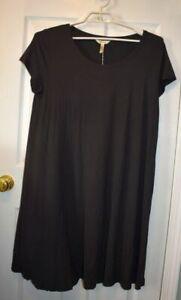 Matilda-Jane-Perfectly-Paired-nwt-dress-womens-XL-black-tshirt-knit