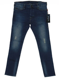 e6b934b86 BNWT True Religion TONY Skinny Fit Mens Blue Stretch Denim Jeans W36 ...
