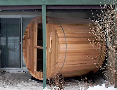 Barrel Sauna, Canadian Pine, Electric Heater Included, 6 Feet,Fits 4 (BST-66-U) | eBay