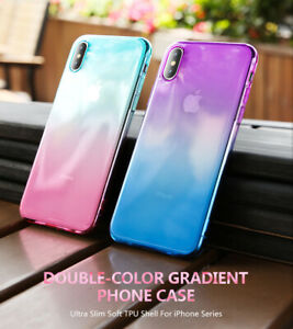 For-iPhone-X-XR-XS-Max-8-7-Plus-Ultra-Slim-Double-Color-Gradient-Soft-TPU-Case
