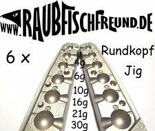 Bleigussform Rundkopf Jig 4, 6, 10, 16, 21 und 30g VMC Jig Köpfe gießen