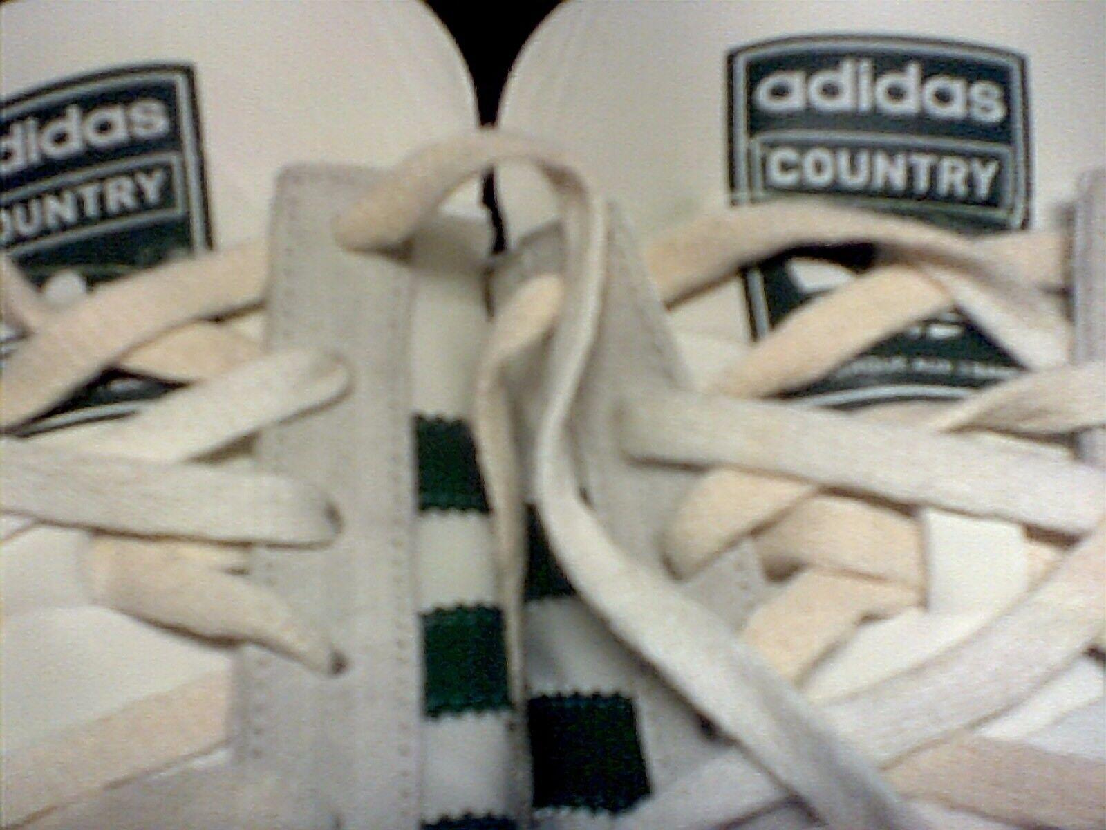 c911b30b3 ... Adidas white white white w  green stripes Country tennis shoes 2008 size  10 4ad397 ...