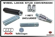 Audi & Volkswagen Wheel Locks Monster Chrome Notch Drive 63mm Stud Conversion