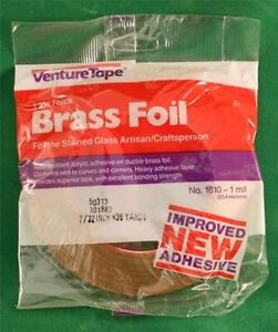 7-32-Venture-BRASS-Adhesive-Stained-Glass-Foil-Tape-1-0-mil