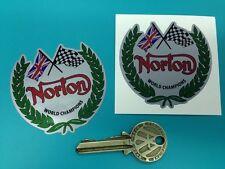 NORTON Garland in Silver motorcycle stickers Dominator Manx Atlas