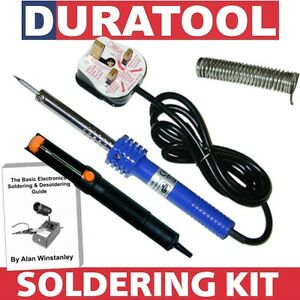 Soldering-Iron-Starter-Kit-60-40-Lead-Solder-Wire-ESD-De-Solder-Desolder-Pump