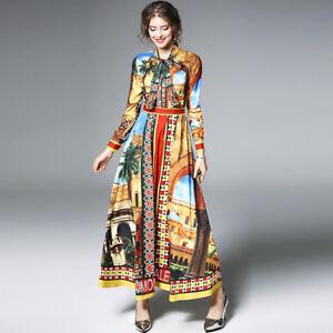 competitive price 2c007 8ff6e Dettagli su Elegante vestito abito colorato maniche lungo slim morbido 4286