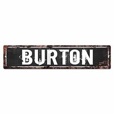 SLND0255 BURTON Street Chic Sign Home man cave Decor Gift