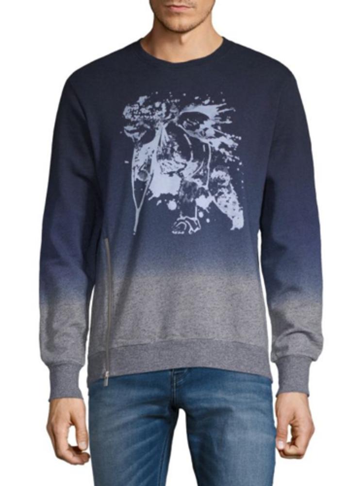 PRPS Goods & Co. Heather Grau/Blau Pullover Sweater Größe L
