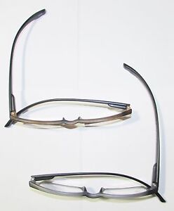 Eyeglass Frames With Long Temples : 1 Extra long temples READING GLASSES Spring frames Black ...