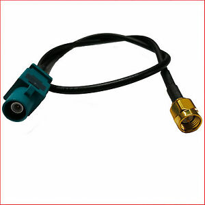 Antenne-Adaptateur-FAKRA-SMA-femelle-GPS-Cable-pour-VW-AUDI-SEAT-SKODA-FORD-BMW