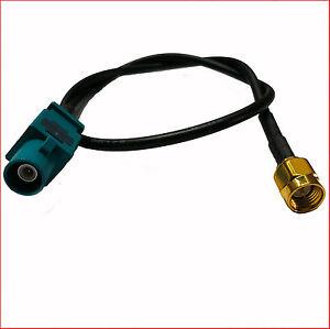 Antenne-Adapter-FAKRA-SMA-Buchse-GPS-Kabel-VW-AUDI-SEAT-SKODA-Ford-BMW