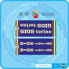 Gios Torino Professional Bicycle Decals - Transfers - Stickers - Set 7