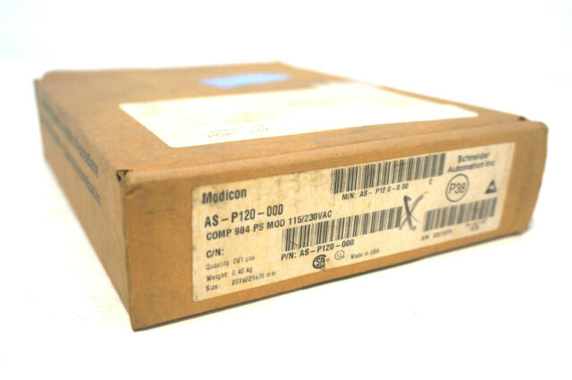 NEW SEALED MODICON AS-P120-000 POWER SUPPLY MODULE ASP120000