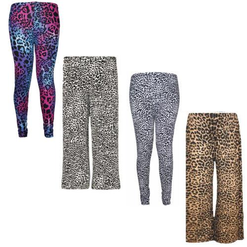 Neue Damen Tier Leopardenmuster Frauen Full Long Stretch Pants Leggings Palazzo