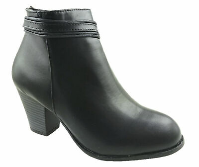 GIRLS FAUX LEATHER ANKLE BOOTS SIDE ZIP