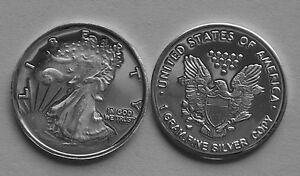 "/""Walking Liberty/"" Design 1 gram silver bullion .999 Fine silver COIN Lot of 10"