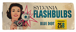 Vintage Sylvania Blue Dot Flashbulbs Press 25B 12 Pack Blue Bulbs