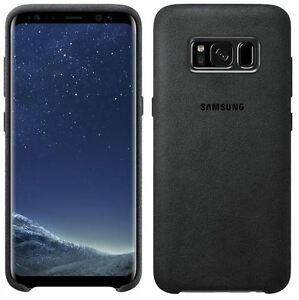 huge selection of 77418 eecf3 Details about NEW GENUINE SAMSUNG GALAXY S8+ PLUS ALCANTARA COVER BACK  COVER - DARK GREY