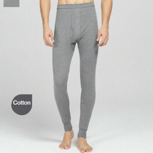 Herren Thermo Lange Unterhose Unten Innere Hose Baumwolle Warm Unterwäsche