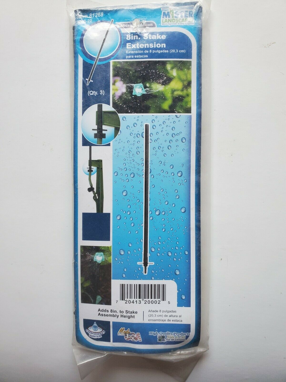Mister Landscaper Lot of 2  3-Pack Drip Irrigation Extension Riser
