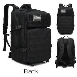 45L Military Tactical Backpack Large Army 3 Day Assault Pack Molle Bag Camping