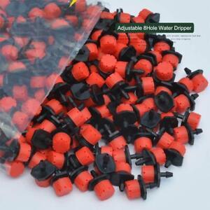 50-100-Einstellbare-8Hole-Dripper-Tropfbewaesserungssystem-Pflanze-Fluss-Wasser