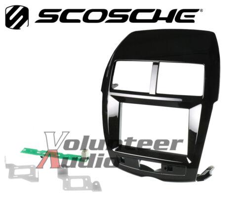 Gloss Black for Outlander Sport Scosche MI3022GB ISO Double DIN Dash Kit