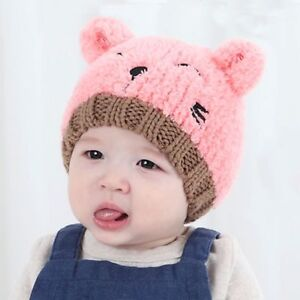 2019 Xmas ! Baby Boy Knit For Girl Winter Hat Toddler Kids Warm ... 0ce5b63fd94