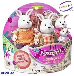 LI-L-WOODZEEZ-HOPPINGOODS-RABBITS-FAMILY-4-FIGURINES-FIT-CALICO-TOYS-NEW-LAPINS