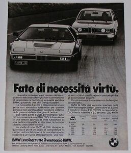 Advert-Pubblicita-1980-BMW-M1-M-535i-SERIE-5-E12